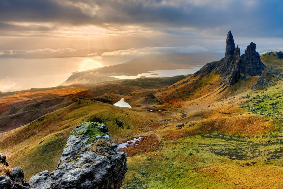 Magnificent landscape view at isle of the skye